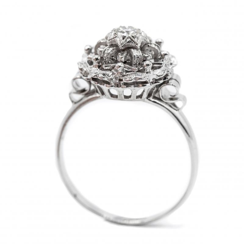 Anello vintage  con diamante taglio brillante  img - 4