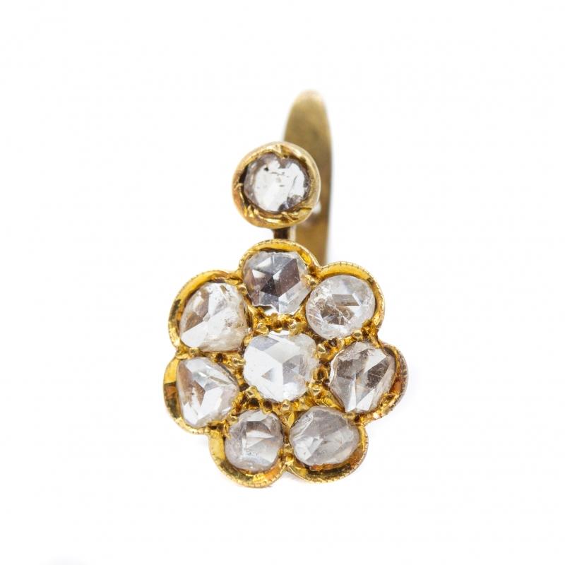 Orecchini con diamanti taglio antico img - 4