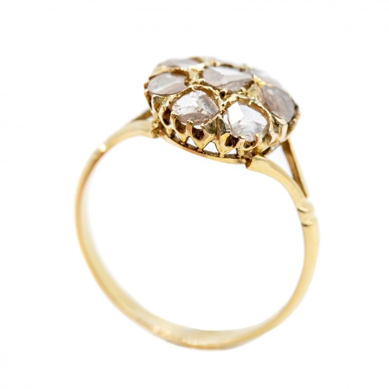 Anello con diamanti taglio antico  img - 4