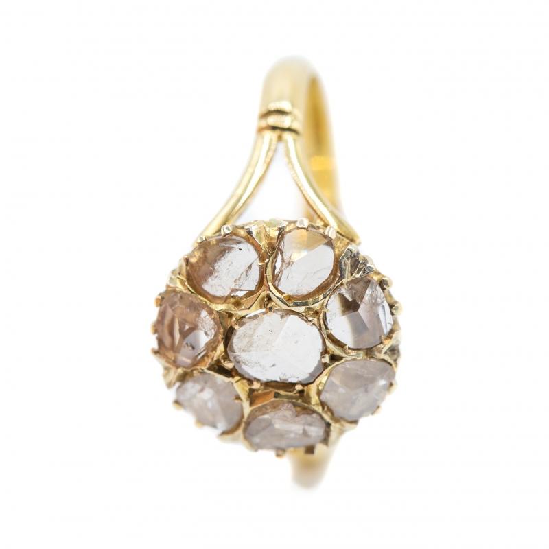Anello con diamanti taglio antico  img - 5