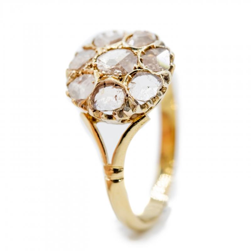 Anello con diamanti taglio antico  img - 3