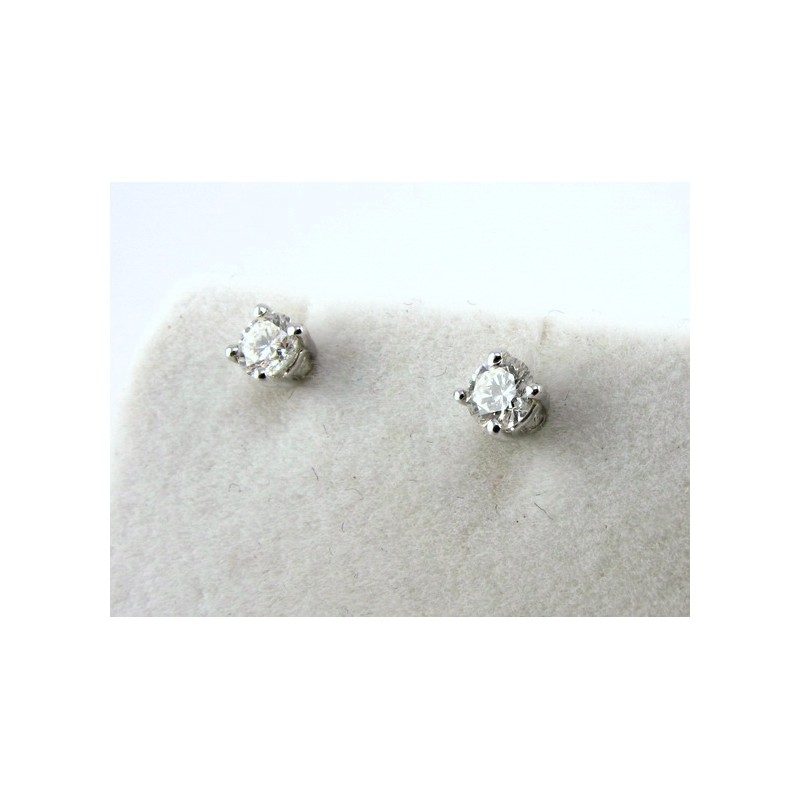 Orecchini Solitari con Diamanti img - 2