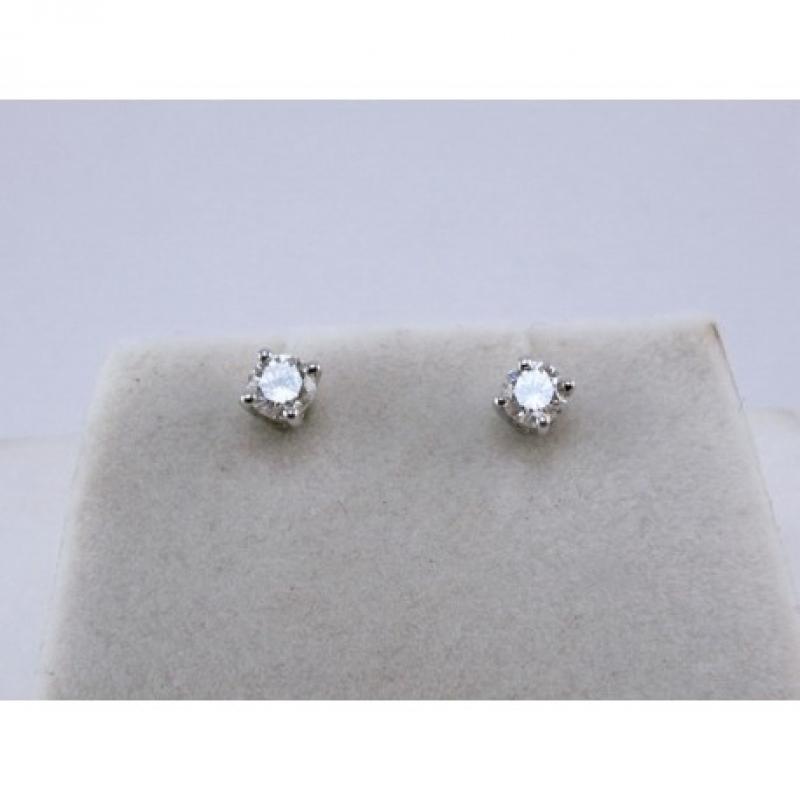 Orecchini Solitari con Diamanti img - 3