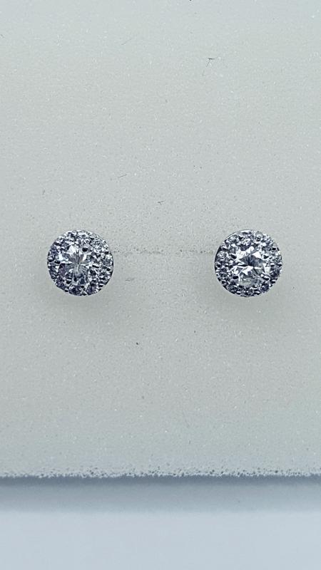 Orecchini a toppa con diamanti img - 6