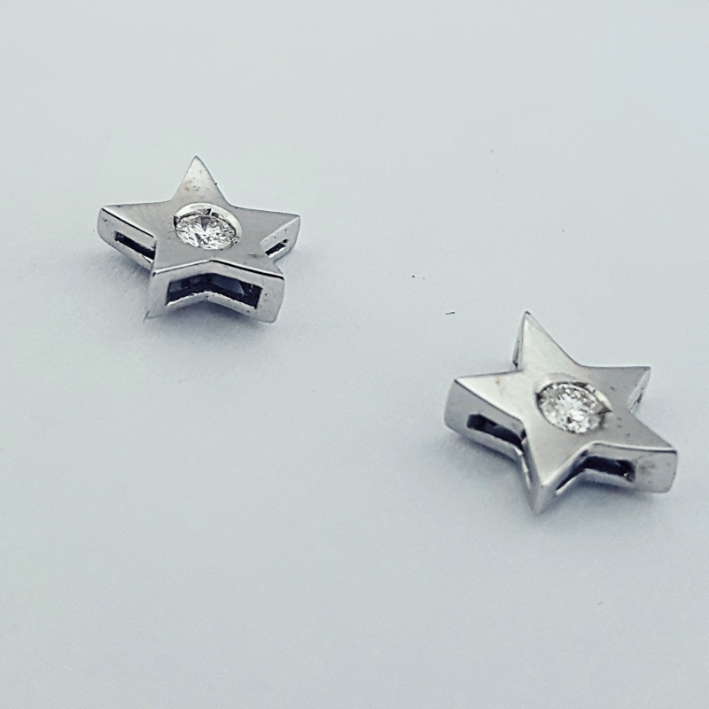 Orecchini con diamanti stella img - 3