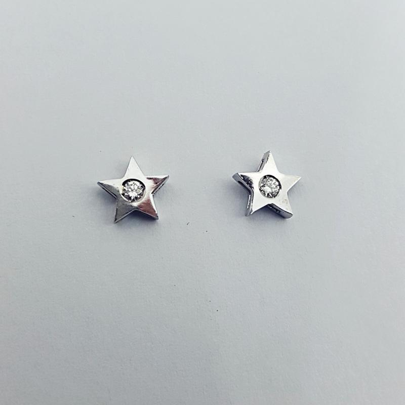 Orecchini con diamanti stella img - 5