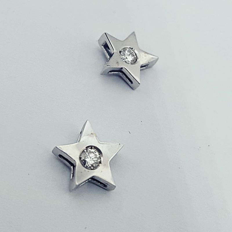 Orecchini con diamanti stella img - 4