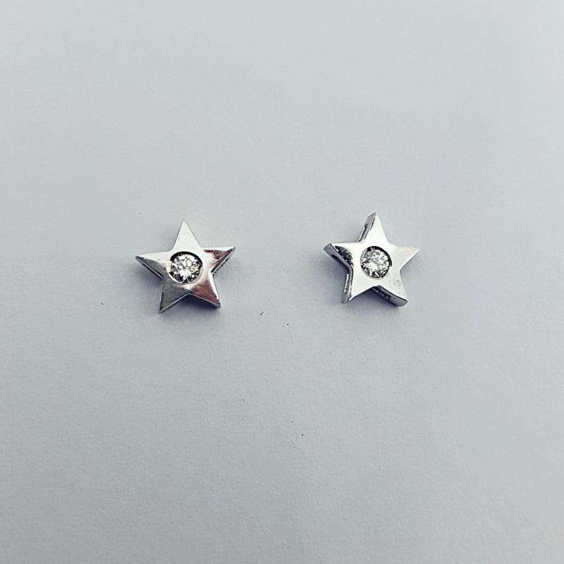 Orecchini con diamanti stella img - 2