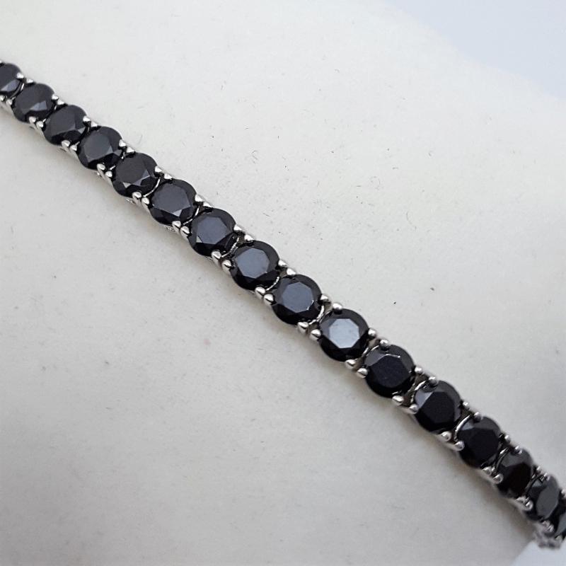 Bracciale Tennis diamanti neri img - 3