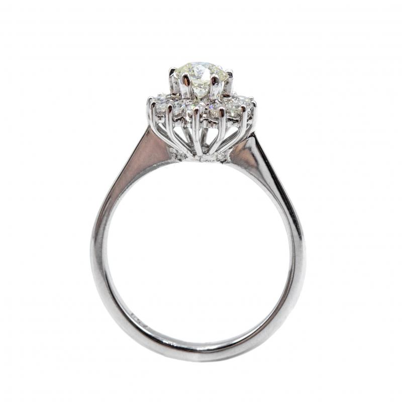 Anello vintage con diamanti , anni 60/70  img - 4