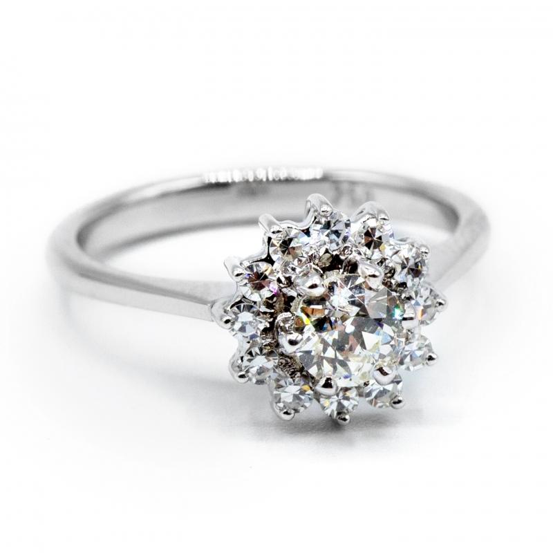 Anello vintage con diamanti , anni 60/70  img - 2
