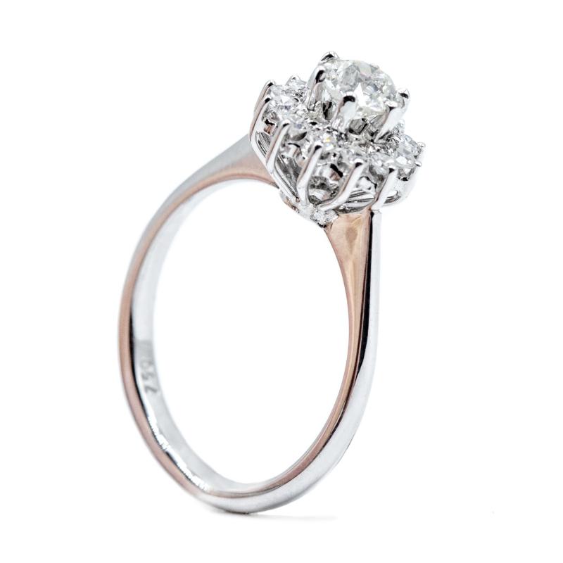 Anello vintage con diamanti , anni 60/70  img - 5