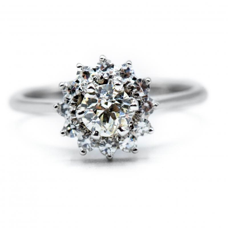 Anello vintage con diamanti , anni 60/70