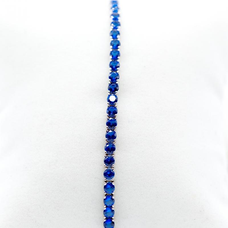Bracciale Tennis con zaffiri blu img - 5