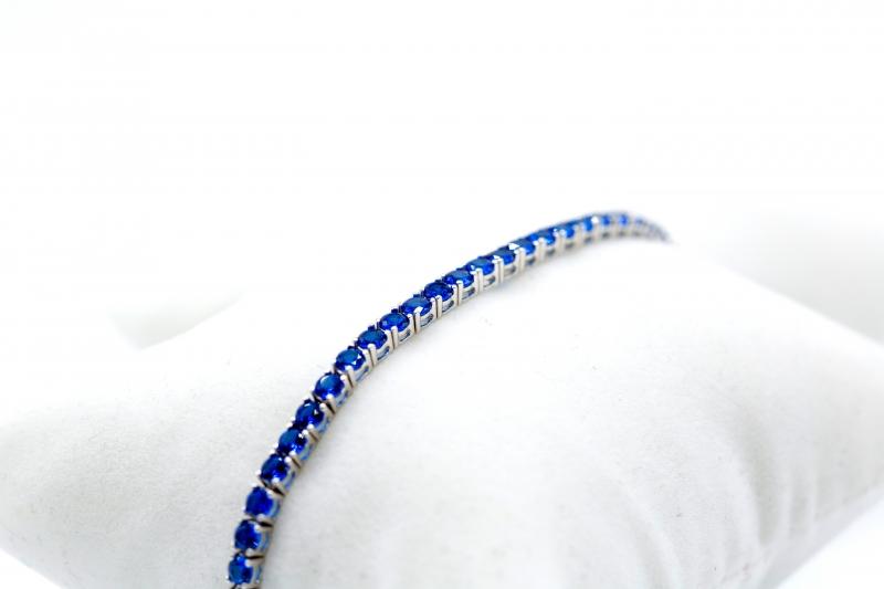 Bracciale Tennis con zaffiri blu img - 3
