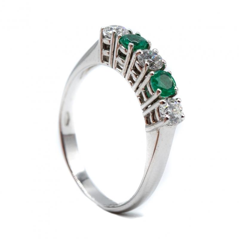 Veretta con diamanti e smeraldi img - 4
